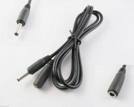3m-es fekete hosszabbító kábel 3,5mm