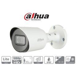 Dahua 4in1 Analóg csőkamera - HAC-HFW1200T-A (2MP, 2,8mm, kültéri, IR30m, ICR, IP67, DWDR, audio)
