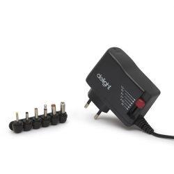 Delight univerzális adapter (55056B), DC 3-12V, 1,5A, 6db cserélhető dugó