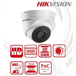 Hikvision Analóg turretkamera - DS-2CC52D9T-IT3E (2MP, 6mm, kültéri, EXIR40M, ICR, IP67, WDR, 12VDC/PoC)