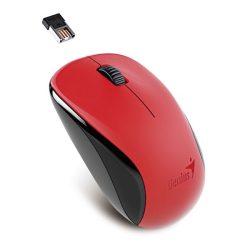 Genius Egér - NX-7000 (Vezeték nélküli, USB, 3 gomb, 1200 DPI, BlueEye, piros)