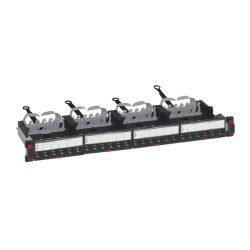 Legrand Patch panel - Cat6, FTP, 24 portos, 1U, árnyékolt, (4x6xRJ45 modulok) gyorscsatlakozók, LCS3