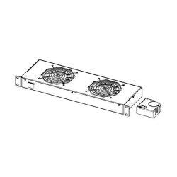 """Legrand Rackszekrény ventilátor 19""""- 2U, 4 ventilátor, termosztát, 320m3/óra, Fekete"""