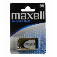 Maxell Elem - Alkáli elem,  (6LR61), 9V (no mercury)